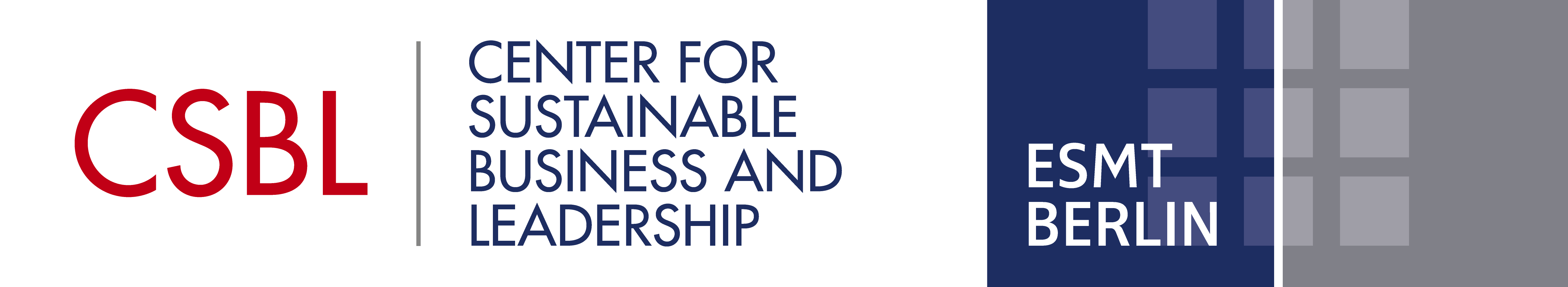 Logo of the Center for Sustainable Business & Leadership at ESMT Berlin
