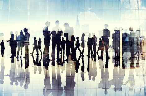 Image for CFRA Events: Silhouttes of People Talking